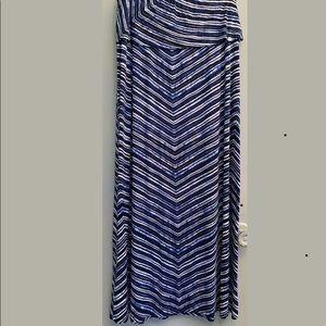 CALVIN KLEIN Maxi Foldover Waistband Skirt